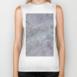 Speckled Blue and Gray Marble Biker Tank