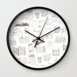 Cover, Contain, COMPOST- 1 of 3 Wall Clock
