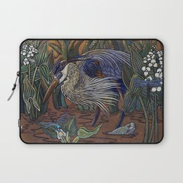 Great Blue Heron with Snapper Laptop Sleeve