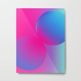 Futuristic Circles Metal Print