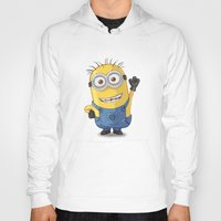 phil jones Hoodies featuring Minion - Phil by Konstantin Veter