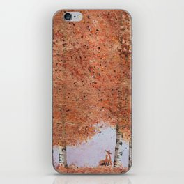 Autumn Birch Fox iPhone Skin