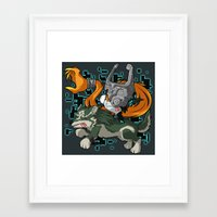 invader zim Framed Art Prints featuring Invader Midna by HelloTwinsies
