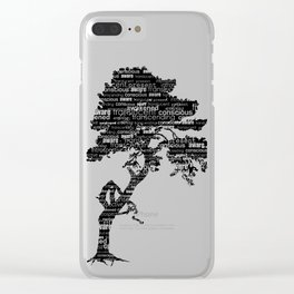 Bodhi Tree Clear iPhone Case