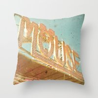 mouse Throw Pillows featuring Mouse by Cassia Beck
