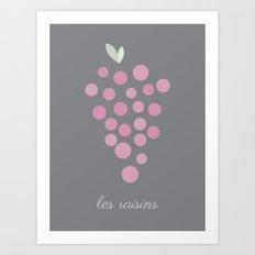 Les Raisins Art Print
