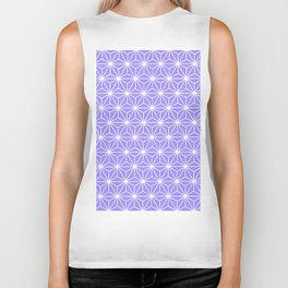 Cold Lilac Geometric Flowers and Florals Isosceles Triangle Biker Tank