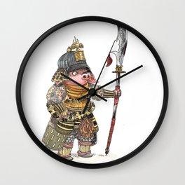 Cochon Samouraï Wall Clock