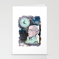 stephen king Stationery Cards featuring Stephen Hawking by Dushan Milic