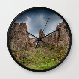 Belogradchik Rocks and Fortress'entrance, Bulgaria Wall Clock