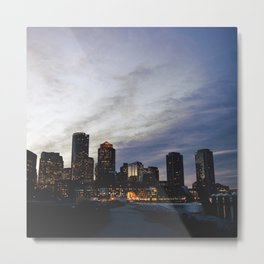 Christmas in Boston Metal Print