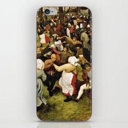 Pieter Bruegel The Elder - The Wedding Dance iPhone Skin