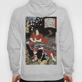 The Woman Kansuke Slaying an Assailant with a Sword Hoody