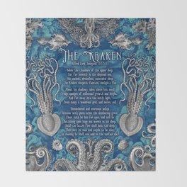 The Kraken (Blue) Throw Blanket