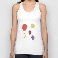 fruit Tank Tops featuring Fruit by PandaBaby