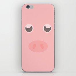 Look how cute this pig is iPhone Skin