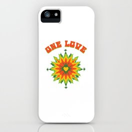One Love fractal iPhone Case