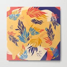 Primary Colors Leaves Metal Print
