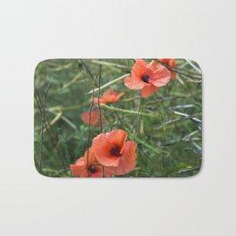 RED POPPY FLOWERS - Isle Ruegen Bath Mat