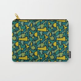 Modern Organic Abstract / Green-Yellow to Green-Blue Hues on Dark Background Carry-All Pouch