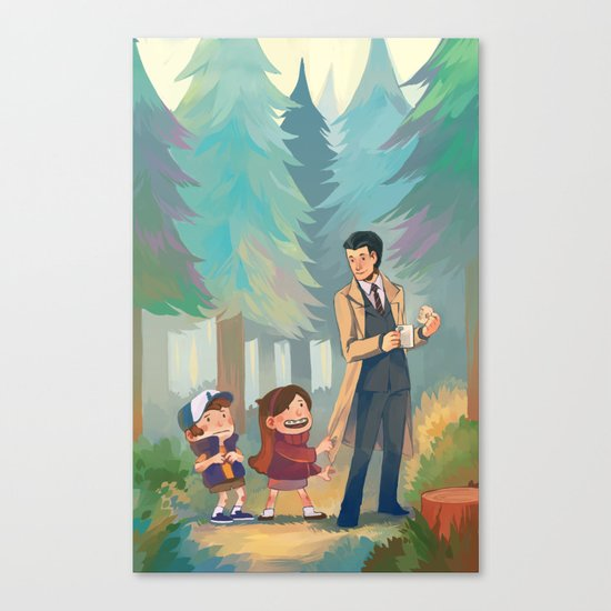 Small Town Adventures Canvas Print
