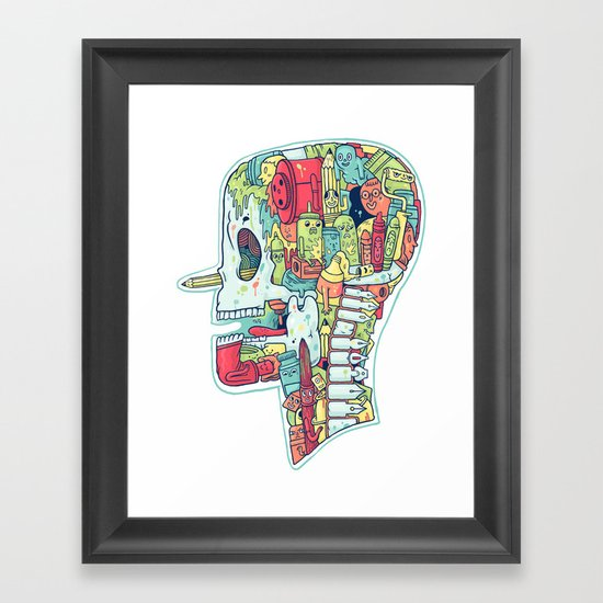 Illustrator to the Bone Framed Art Print