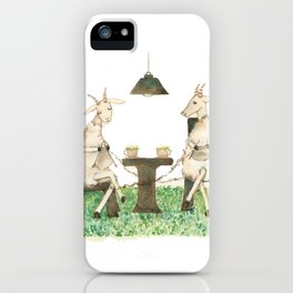 Sheep knitting iPhone Case
