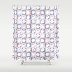 Kawaii Little Ghosts Shower Curtain