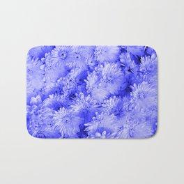 Periwinkle Floral Garden Bath Mat
