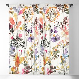 Wild grasses watercolor Blackout Curtain