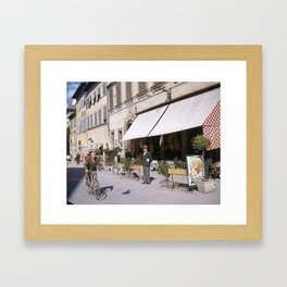 Italian Life - Vintage Photography Framed Art Print