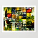 Colorful City Scene by perkinsdesigns