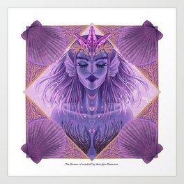 The Queen of Seashell Art Print