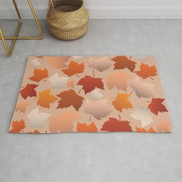 Pretty Autumn Leaves Pattern Rug