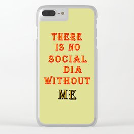Social __dia Clear iPhone Case