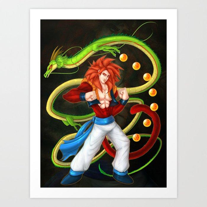 Gogeta Ss4 Art Print By Francisjohn