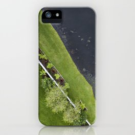 The Garden & The Pond  |  Drone Photography iPhone Case