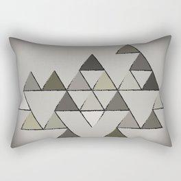 Grunge Triangles Rectangular Pillow