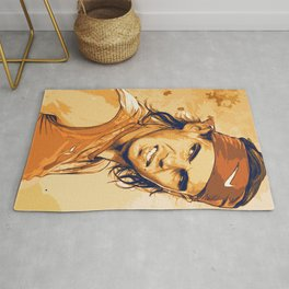 rf, roger federer, roger, federer, tennis, wimbledon, grass, tournament, ball, legend,  Illustration Rug