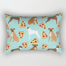 boxer pizza dog lover pet gifts cute boxers pure breeds Rectangular Pillow