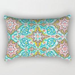 Mexican Ceramic Tile Pattern Rectangular Pillow