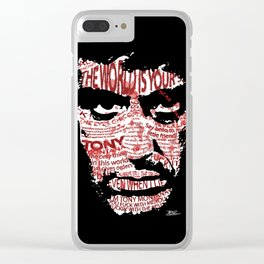The eyes chico, they never lie.. Clear iPhone Case