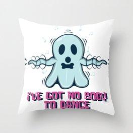 Dancing Halloween Spirit Funny Music Sport Gift Throw Pillow