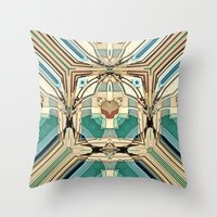 supreme Throw Pillows featuring Supreme by David Lee