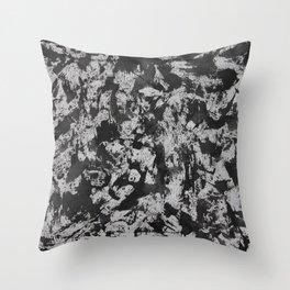 Black Watercolor on White Background Throw Pillow
