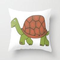 tortoise Throw Pillows featuring tortoise by siloto