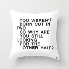 In Half / Original / Mono Throw Pillow