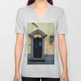 Door in Italian Village Unisex V-Neck
