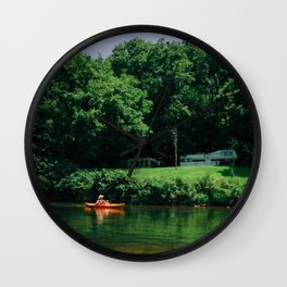 summer canoe Wall Clock