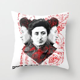 Rosa Rubra Throw Pillow